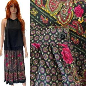 ALFRED DUNNER floral print skirt roses/paisley